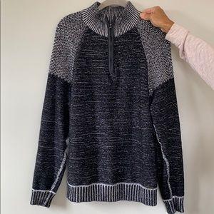 Buckle 1/4 Zip Sweater